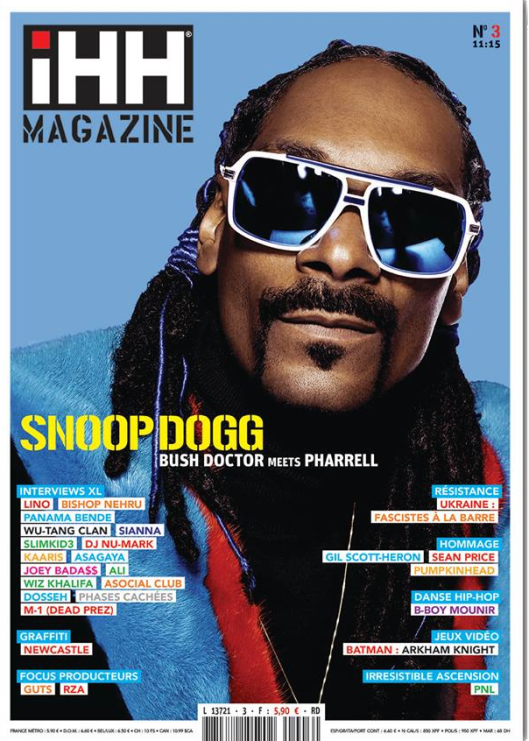iHH™ MAGAZiNE  n° 3 (issue #3) >> 100 pages ! SNOOP DOGG + etc.