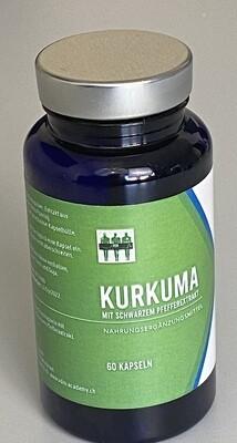 Kurkuma mit Ingwer und schwarzem Pfeffer