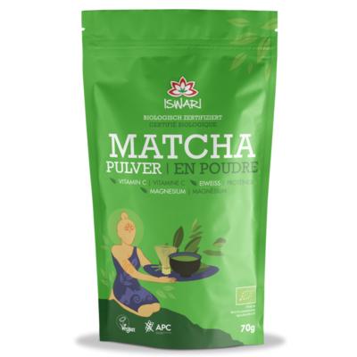 Iswari Matcha mit Vitamin C, Magnesium und Eiweiss