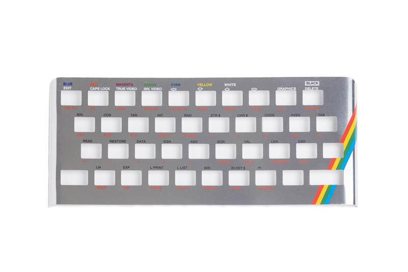 Zx Spectrum 16k/48k keyboard replica cover plate (faceplate) Chrome
