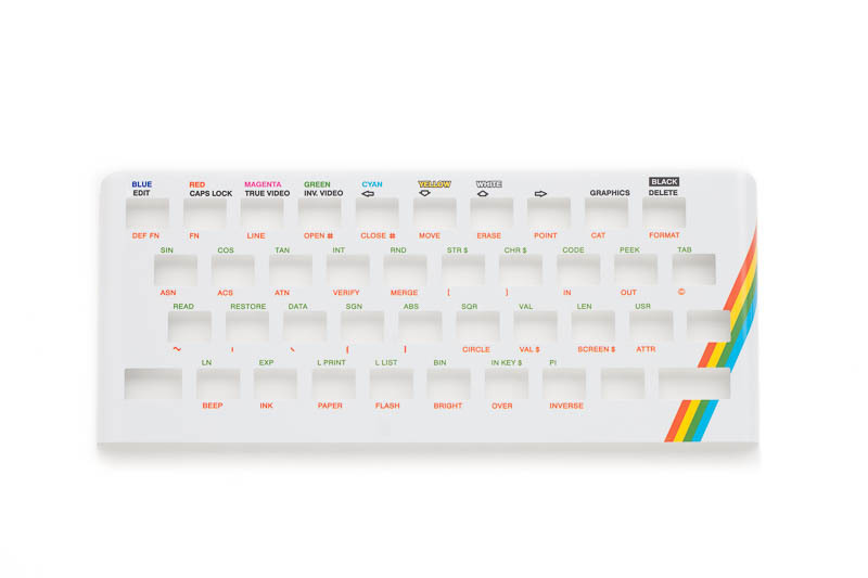 Zx Spectrum 16k/48k keyboard replica cover plate (faceplate) white