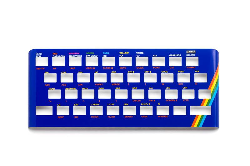 Zx Spectrum 16k/48k keyboard replica cover plate (faceplate) blue