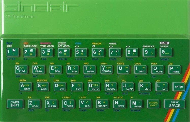 ZX SPECTRUM Replacement Case Green