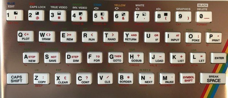 Zx Spectrum 16k/48k keyboard replica cover plate (faceplate) Rose
