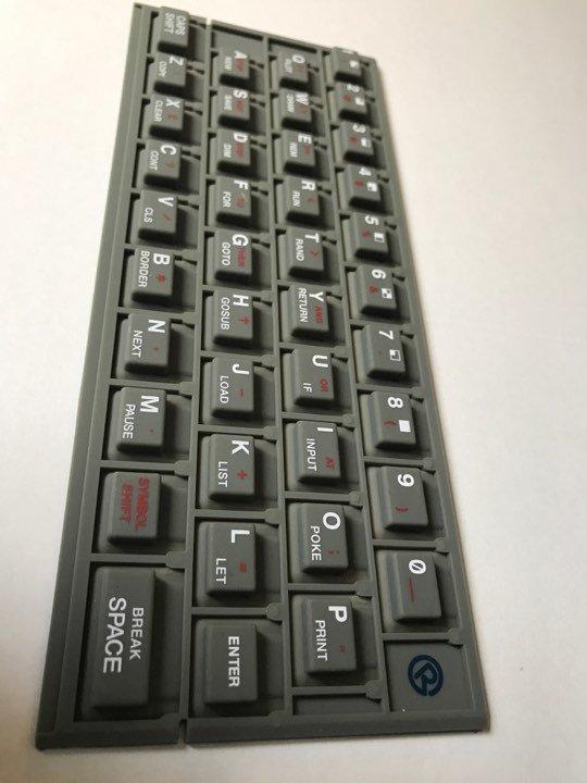 ZX SPECTRUM 16k/48k keyboard mat Standard (grey) Issue 1