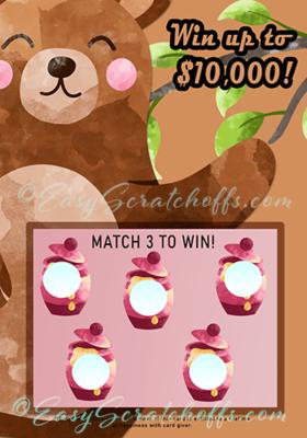 Honey bear scratch off template